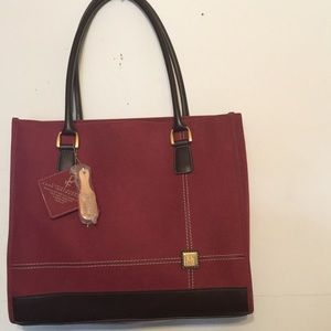 DVF canvas suede large tote new